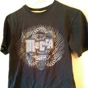 😁Mecca Apparel black tee shirt-sz S (8)